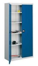 99552471 Szafa warsztatowa, 4 półki , 2 drzwi (wymiary: 1980x1200x420 mm)