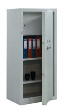99552584 Szafa aktowa - wzmocniona, 2 półki, 1 drzwi, 1 skarbczyk (wymiary: 1500x700x460 mm)