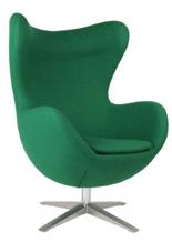 99851003 Fotel Jajo inspirowany Egg szeroki wełna (kolor: zielony)
