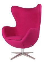 99851006 Fotel Jajo inspirowany Egg szeroki wełna (kolor: różowy)
