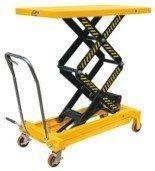 DOSTAWA GRATIS! 00546099 Wózek paletowy stołowy (udźwig: 700 kg, min./max. wysokość podestu: 445/1500 mm, wymiary platformy: 1220x610 mm)