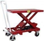 DOSTAWA GRATIS! 03028217 Wózek platformowy nożycowy (udźwig: 250 kg, wymiary platformy: 830x500 mm)