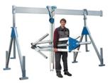DOSTAWA GRATIS! 03047236 Wciągarka bramowa aluminiowa z wciągnikiem (szerokość całkowita regulowana: 2100mm, wysokość całkowita regulowana: 1640–2740mm, udźwig suwnicy/wciągnika: 1000/1000kg kg)