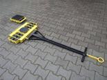 DOSTAWA GRATIS! 12267437 Wózek skrętny z otworem fi 21 w płycie nośnej, 12 rolkowy, rolki: 12x kompozyt (nośność: 16 T)