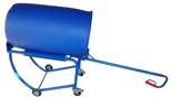 DOSTAWA GRATIS! 13340559 Wózek czterokołowy ręczny do przewozu plastikowych i stalowych beczek (nośność: 300 kg)