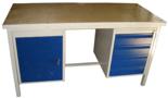 DOSTAWA GRATIS! 13340634 Stół warsztatowy z jedną szafką uchylną i jedną czteroszufladową SW (wymiary: 1600x700x850 mm)