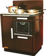 DOSTAWA GRATIS! 25945725 Kuchnia węglowa 9,2kW KAROLINA wylot spalin z tyłu z lewej strony (kolor: brązowy)