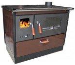 DOSTAWA GRATIS! 27765712 Kuchnia wolnostojąca na drewno 9,6kW (kolor: ciemny brązowy)