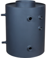 DOSTAWA GRATIS! 30041170 Turbodym wodny nagrzewnica pionowa z wężownicą do 9kW (pojemność wody: 26 L)