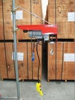 DOSTAWA GRATIS! 55547200 Wciągarka budowlana elektryczna Bellussi + zdalne sterowanie z niskim napięciem (udźwig: 200 kg, długość liny: 25m)