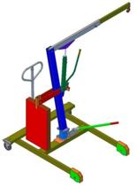 DOSTAWA GRATIS! 61742359 Żuraw hydrauliczny obrotowy ręczny (udźwig: od 300 do 500kg)