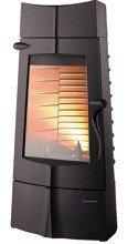 DOSTAWA GRATIS! 86854945 Piec wolnostojący Invicta 10kW Chamane 10 (górna średnica wylotu spalin: 180mm, kolor: antracyt)