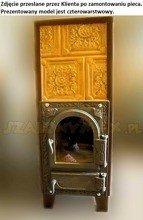 DOSTAWA GRATIS! 92264204 Piec grzewczy kaflowy 7,8kW Retro trzywarstwowy z szybą na drewno i węgiel (kolor: brąz)