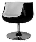 DOSTAWA GRATIS! 99850989 Fotel obrotowy Cognac (kolor: czarny/biały)