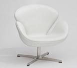 DOSTAWA GRATIS! 99851015 Fotel Cup inspirowany projektem Swan skóra (kolor: biały)