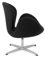 DOSTAWA GRATIS! 99851027 Fotel Cup inspirowany projektem Swan kaszmir (kolor: ciemnoszary)