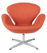DOSTAWA GRATIS! 99851032 Fotel Cup inspirowany projektem Swan kaszmir (kolor: pomarańczowy)