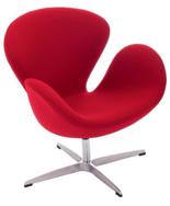DOSTAWA GRATIS! 99851034 Fotel Cup inspirowany projektem Swan kaszmir (kolor: czerwony)