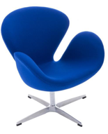 DOSTAWA GRATIS! 99851035 Fotel Cup inspirowany projektem Swan kaszmir (kolor: niebieski)