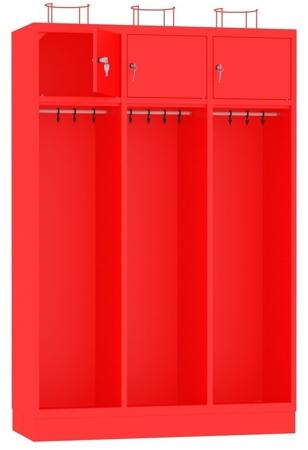 00141845 Szafa strażacka, 3 segmenty (wymiary: 1800x1200x480 mm)