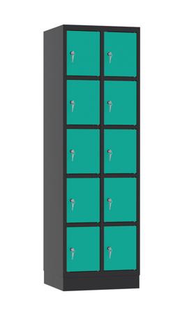 00141888 Szafa skrytkowa, 2 segmenty, 10 skrytek (wymiary: 1950x610x480 mm)