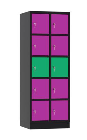 00141908 Szafa skrytkowa, 2 segmenty, 8 skrytek (wymiary: 1950x710x480 mm)