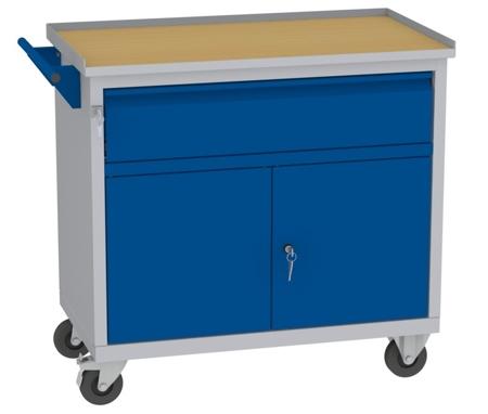00142049 Wózek narzędziowy, 2 drzwi, 1 szuflada (wymiary: 860x950x505 mm)