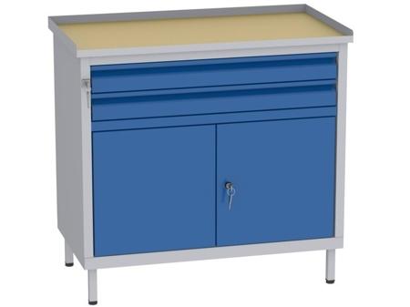 00142063 Szafka warsztatowa, 2 drzwi, 2 szuflady (wymiary: 850x900x505 mm)