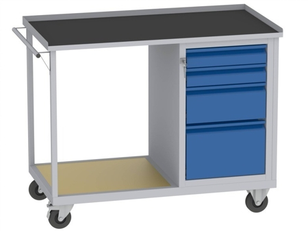 00142073 Wózek platformowy, 4 szuflady (wymiary: 890x1150x590 mm)