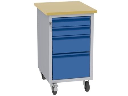 00142079 Wózek platformowy, 4 szuflady (wymiary: 830x505x605 mm)