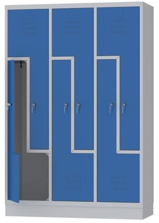 00150396 Szafa ubraniowa L, 3 segmenty, 6 drzwi (wymiary: 1800x1200x480 mm)