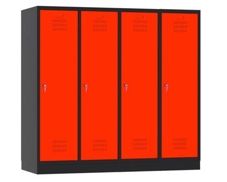 00150436 Szafa szkolna, 4 segmenty, 4 drzwi (wymiary: 1500x1590x480 mm)