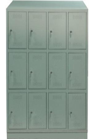 00150542 Szafa skrytkowa z daszkiem, 4 segmenty, 12 skrytek (wymiary: 2135x1190x480 mm)