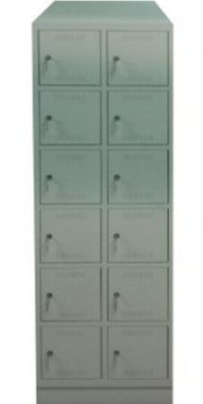 00150555 Szafa skrytkowa z daszkiem, 2 segmenty, 12 skrytek (wymiary: 2135x710x480 mm)