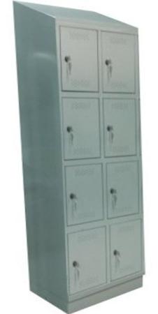 00150568 Szafa skrytkowa z daszkiem, 2 segmenty, 8 skrytek (wymiary: 2135x810x480 mm)
