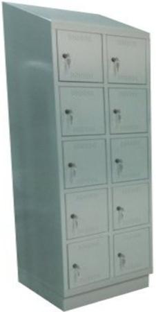 00150569 Szafa skrytkowa z daszkiem, 2 segmenty, 10 skrytek (wymiary: 2135x810x480 mm)