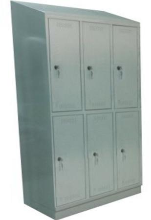 00150571 Szafa skrytkowa z daszkiem, 3 segmenty, 6 skrytek (wymiary: 2135x1200x480 mm)