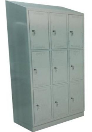 00150572 Szafa skrytkowa z daszkiem, 3 segmenty, 9 skrytek (wymiary: 2135x1200x480 mm)