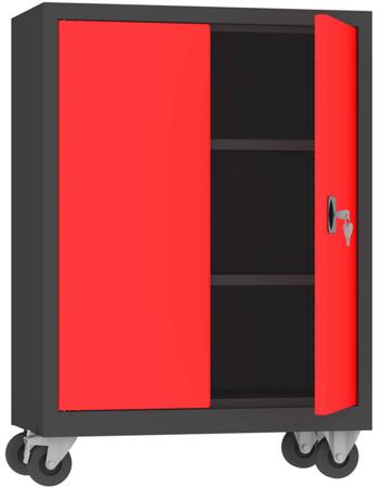 00150590 Szafa na akta na kółkach, 2 drzwi (wymiary: 1000 + koła x800x500 mm)