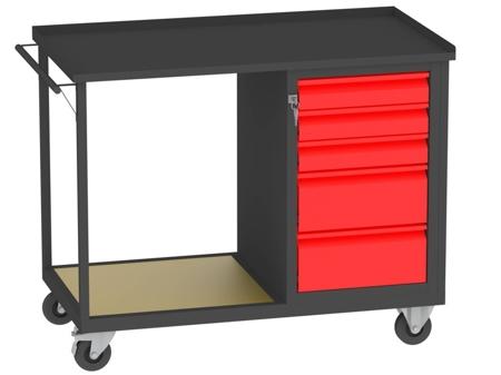 00150667 Wózek platformowy, 5 szuflad (wymiary: 890x1150x590 mm)