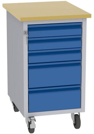 001506674 Wózek platformowy, 5 szuflad (wymiary: 830x505x605 mm)
