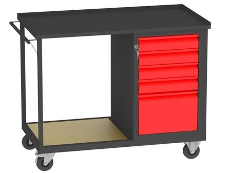 00150668 Wózek platformowy, 5 szuflad (wymiary: 890x1150x590 mm)