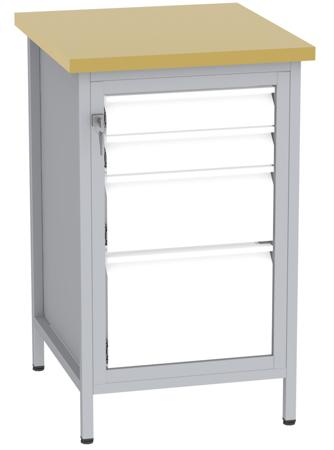 00150682 Stanowisko pod wiertarkę, 4 szuflady (wymiary: 880x550x600 mm)