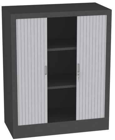 00150698 Szafa żaluzjowa, 2 półki (wymiary: 1250x1000x500 mm)