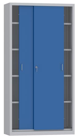 00150806 Szafa przesuwna, 4 półki (wymiary: 1950x1000x600 mm)