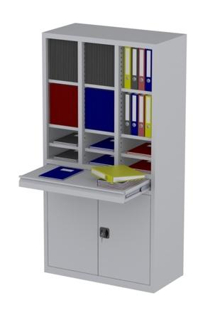 00150831 Szafa nauczycielska, 2 drzwi, 1 szuflada (wymiary: 1950x1000x500 mm)