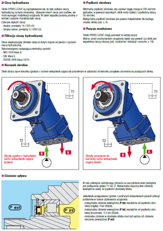 01538890 Silnik hydrauliczny tłoczkowy Hydro Leduc M25 (objętość robocza: 25 cm³, maksymalna prędkość ciągła: 6300 min-1 /obr/min)