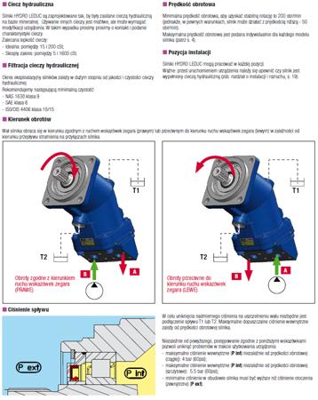 01538905 Silnik hydrauliczny tłoczkowy Hydro Leduc MA45 (objętość robocza: 45 cm³, maksymalna prędkość ciągła: 5000 min-1 /obr/min)