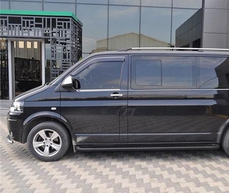 01656105 Stopnie boczne, czarne - Ford Transit Custom short (długość: 205 cm)