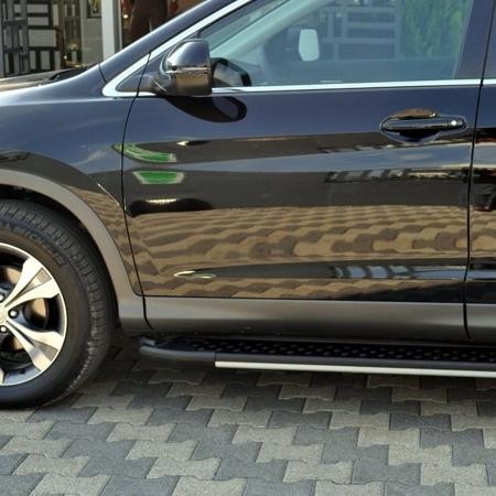 01656109 Stopnie boczne, czarne - Hyundai SantaFe 2006-2012 (długość: 182 cm)